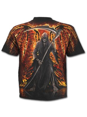 Spiral Flaming Death All-over T-Shirt