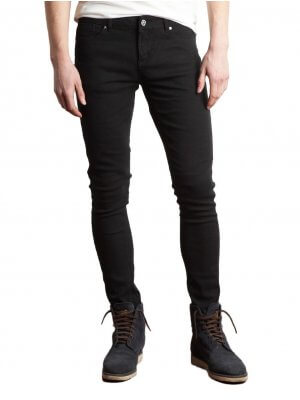 Criminal Damage Black Skinny Jeans