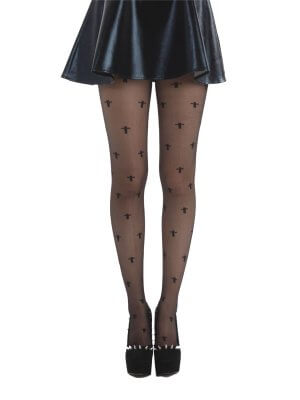 Pamela Mann Black Tights With Cross Pattern