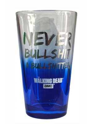 The Walking Dead Ezekiel Bullsh*t Glass