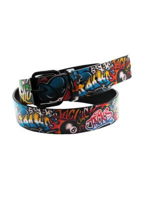 Bullet 69 Jack Graffiti Style Printed Belt (38mm)
