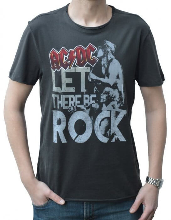 327ea23e68b Amplified AC DC Let There Be Rock Crew Neck T-Shirt - Rock Collection