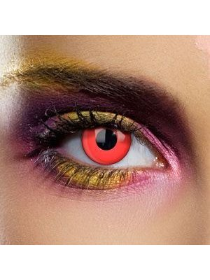 EDIT Daily Bloody Red Single Use Block Colour Contact Lenses