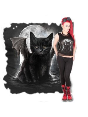 Spiral Bat Cat 2 In 1 Mesh Vest