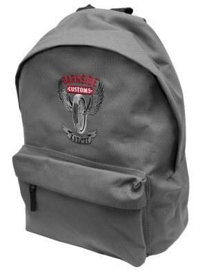 Darkside Wing Wheel Embroidered Backpack