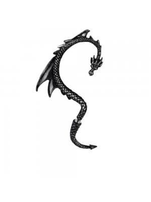 Alchemy Black Pewter Earring The Dragon's Lure