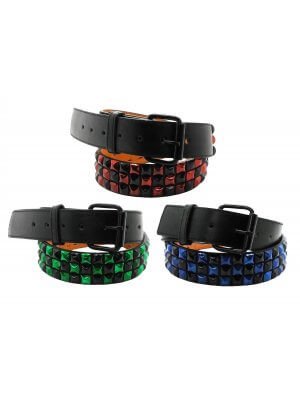 Bullet 69 38mm Chequered 3 Row Studded Belt