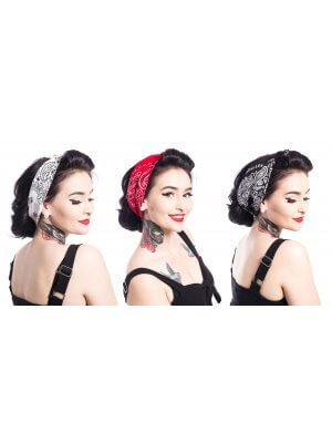 Rockabella Band One Paisley Bandana