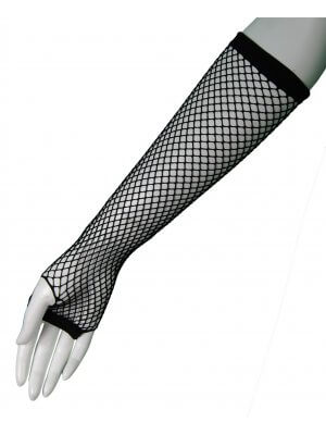 Long Fishnet Fingerless Gloves