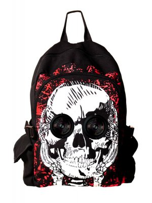 Banned Skull Speaker Backpack