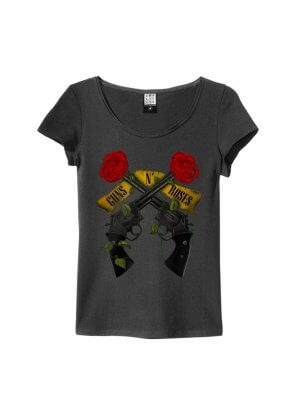 Amplified Guns N' Roses Shooting Roses Women's T-Shirt