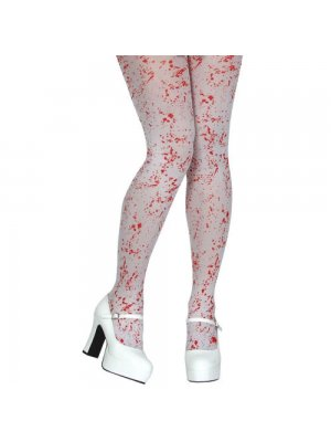 White Tights With Blood Splatter