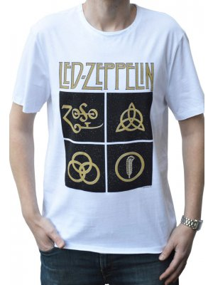 Amplified Led Zeppelin Black Symbols Crew Neck T-Shirt