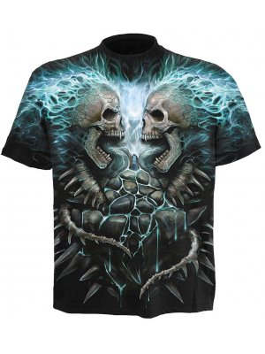 Spiral Flaming Spine All Over Print T-Shirt