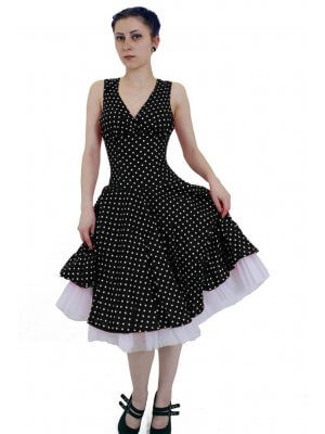 Phaze White Polka Dot Circle Dress