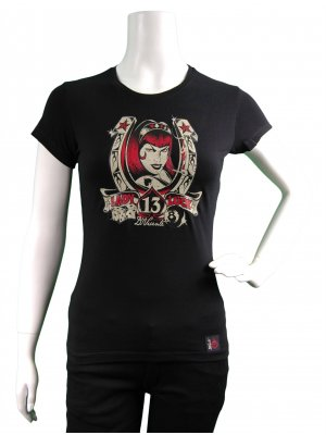 D Vicente Lady Luck 13 Women's Fitted T-Shirt